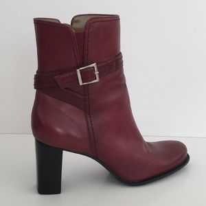 Naturalizer Red Boots Rubber Sole 7